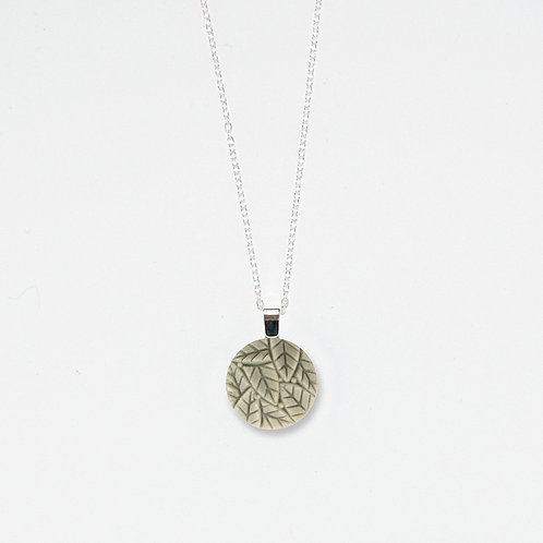 Foggy Leaves Pendant Necklace