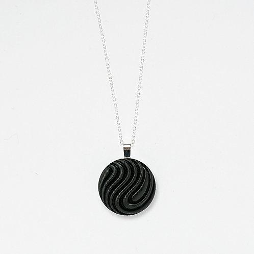 Satin Swirl Pendant Necklace