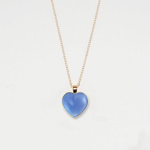 Periwinkle Heart Pendant Necklace