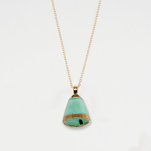 Seafoam Bell Pendant Necklace