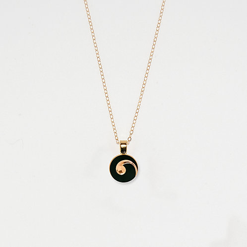 Small Gold Swirl Pendant Necklace