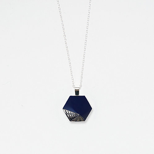 Midnight Web Pendant Necklace