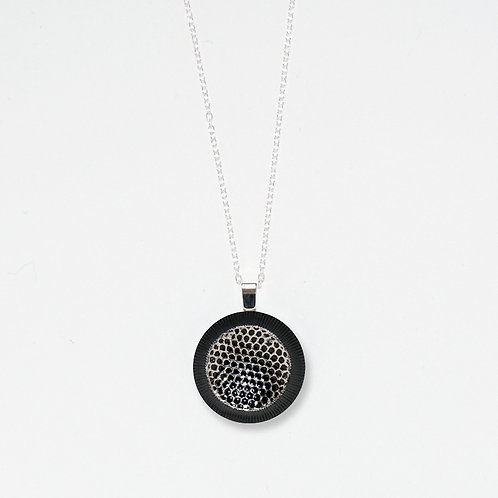 Silver Mesh Pendant Necklace