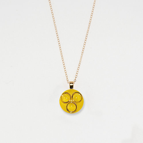 Yellow Moonglows Pendant Necklace