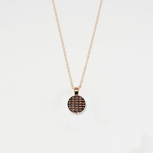 Round Micro-chip Pendant Necklace