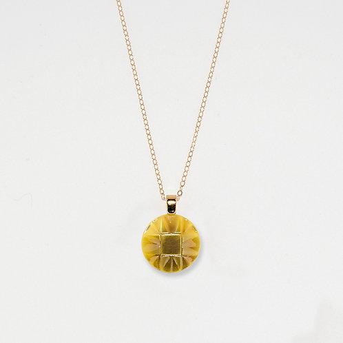 Lemon Flake Pendant Necklace