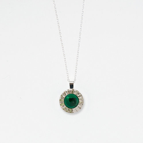Emerald Moonglow Pendant Necklace