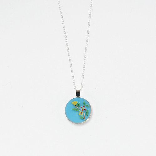 Sky Blue Bouquet Pendant Necklace