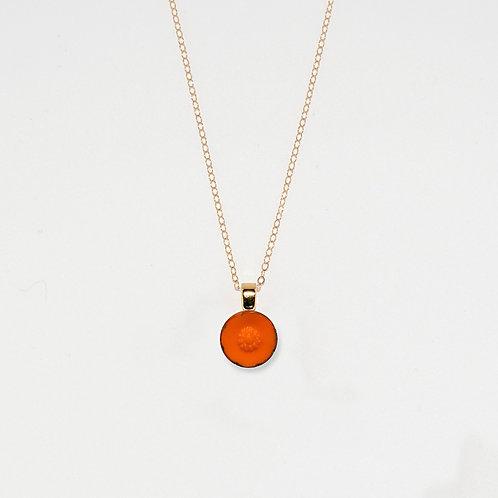 Nasturtium Flower Pendant Necklace