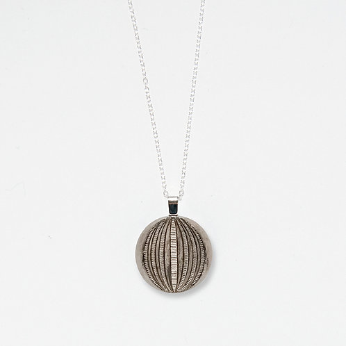 Silver Globe Pendant Necklace