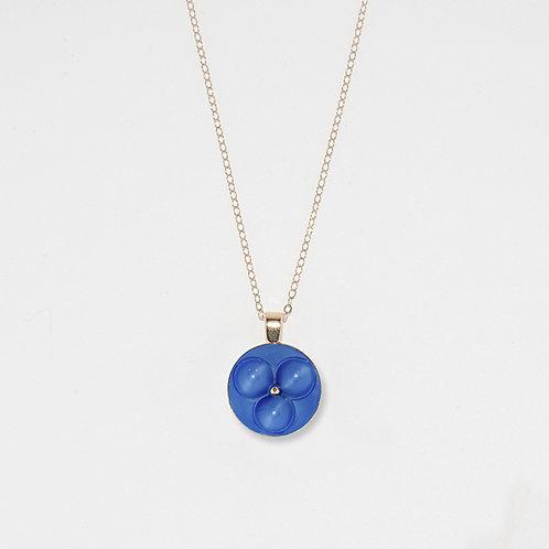 Tri-Circle Lapis Pendant Necklace