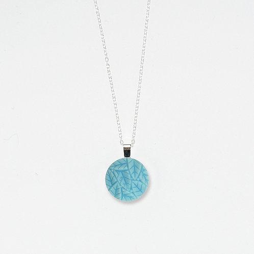 Aqua Leaves Pendant Necklace