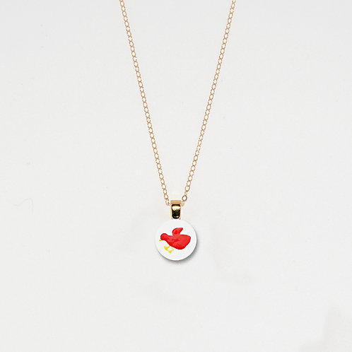 Red Chick Pendant Necklace
