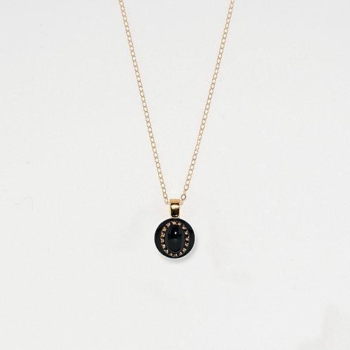 Oval Dots Pendant Necklace