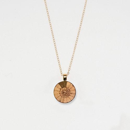Antique Gold Radiant Pendant Necklace