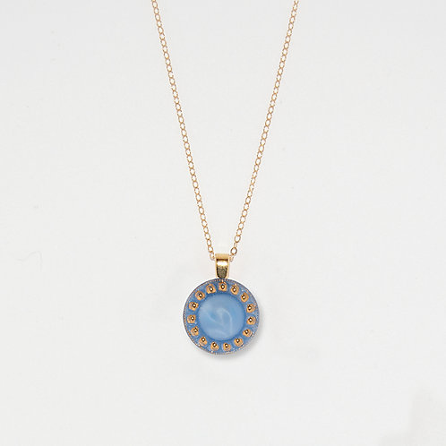 Periwinkle Sun Pendant Necklace