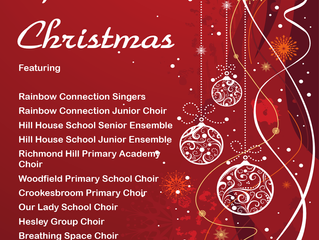 Our Christmas Concert this year will be held at The Dome, Doncaster on Wednesday December 13th. Tick