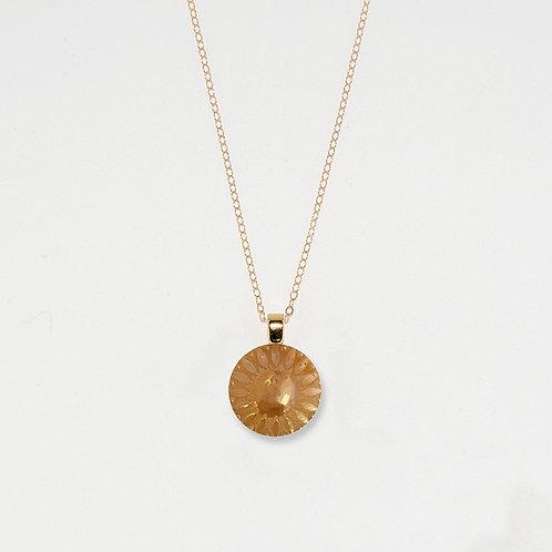 Amber Aurora Pendant Necklace