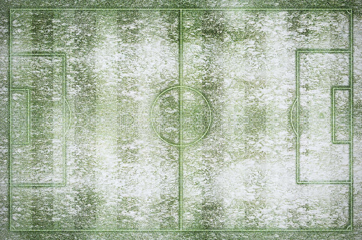 green-football-stadium-field-winter-snow