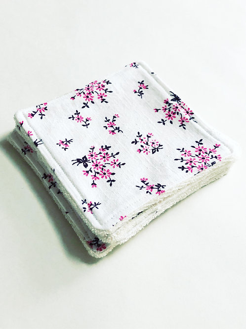 Reusable makeup remover pads - Flower