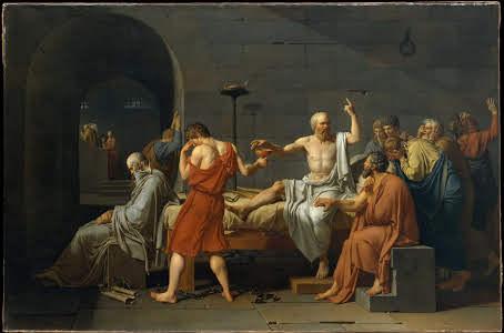 La muerte de Sócrates. Jacques-Louis David. 1787. The Metropolitan Museum of Art Nueva York.