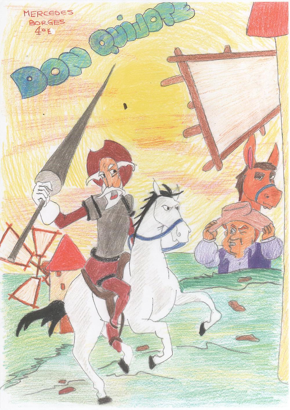 Dibujo original de MERCEDES BORGES.