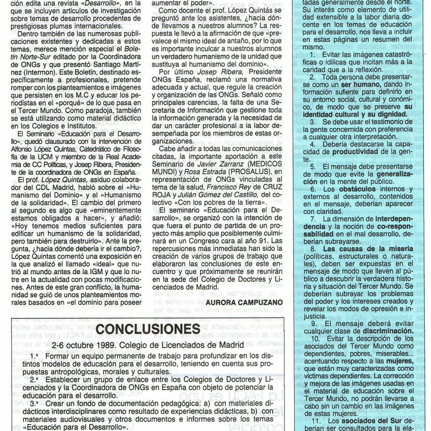 Crónica de Aurora Campuzano. CDL.