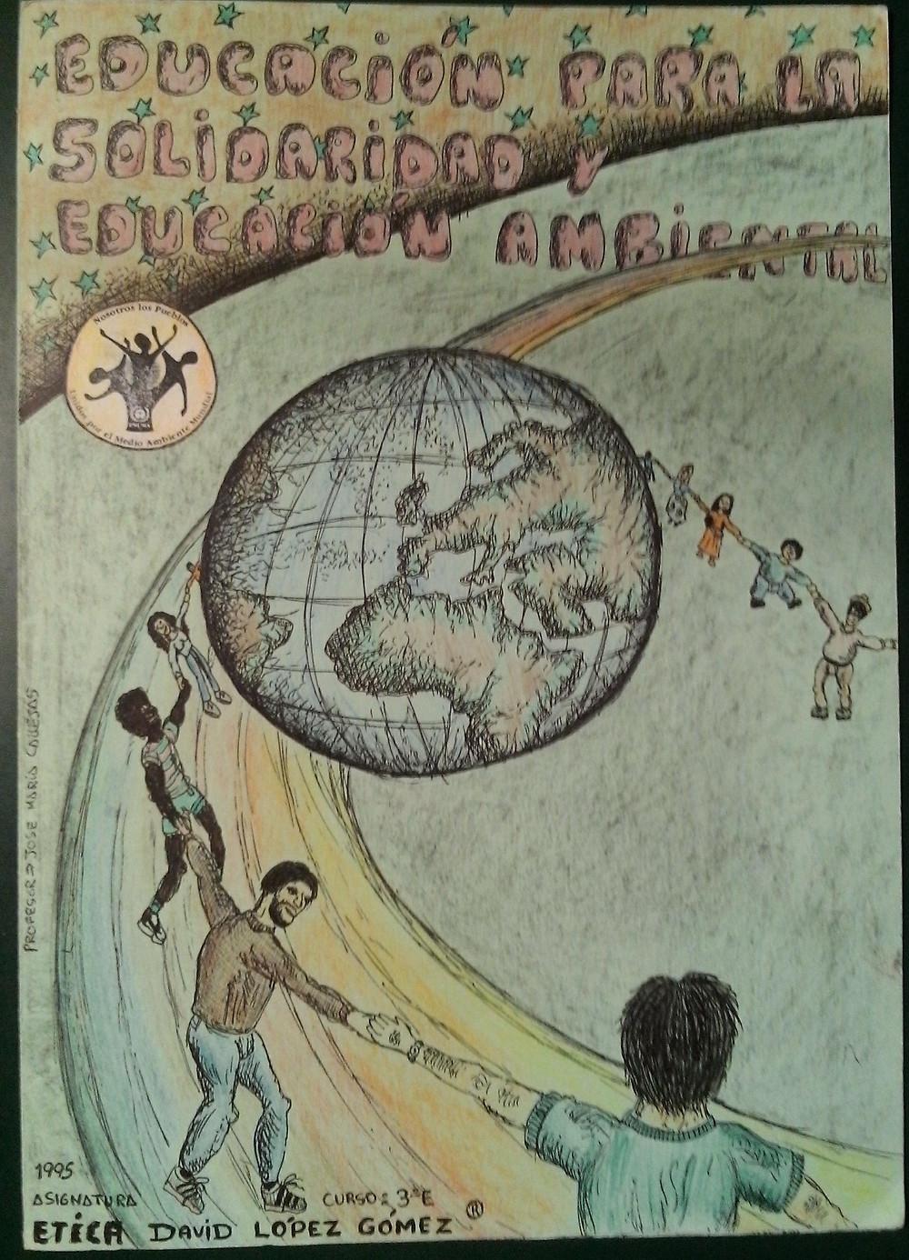 Dibujo original de David López Gómez, alumno de Ética de Bachillerato Unificado Polivalente.