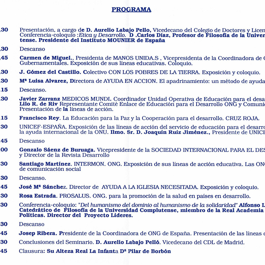 Programa ponencias Educación CDL