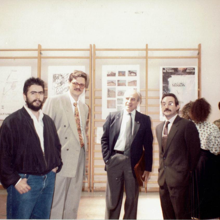 Antonio Blanch con varios profesores