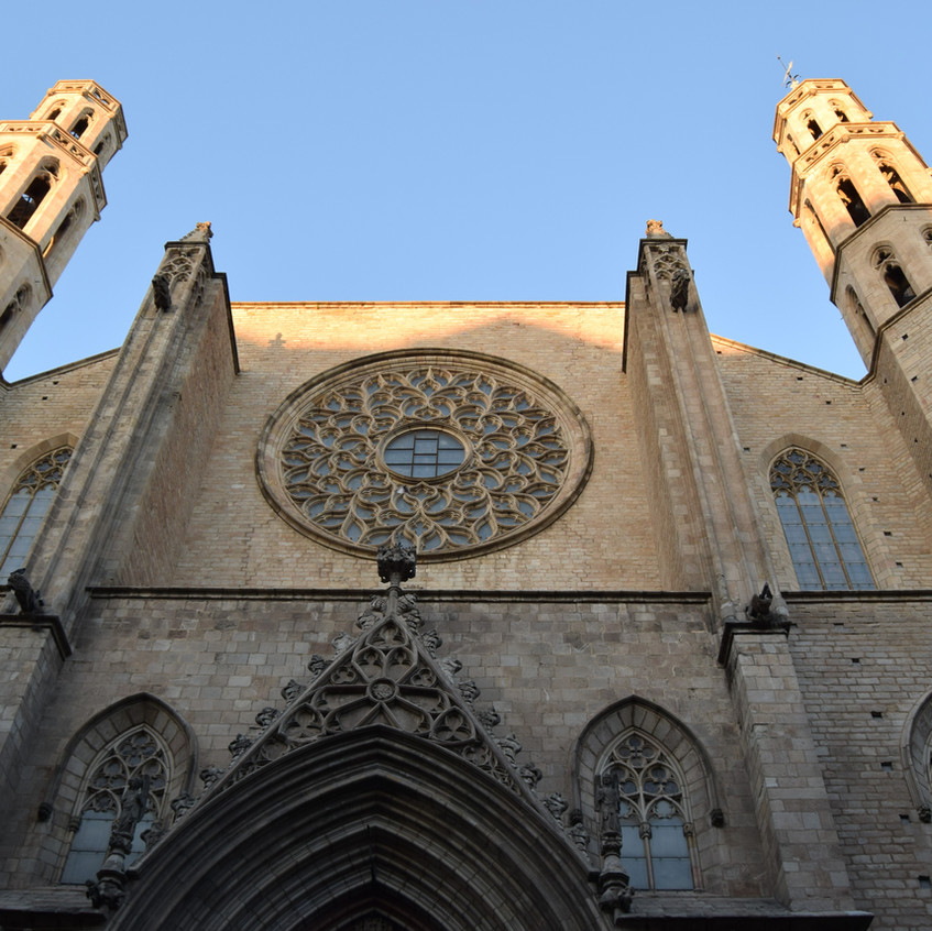 Fachada de la Catedral de Barcelona.