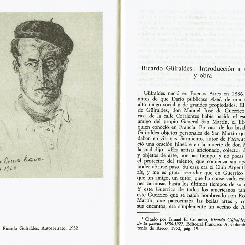 Ricardo Güiraldes. Autorretrato 1932