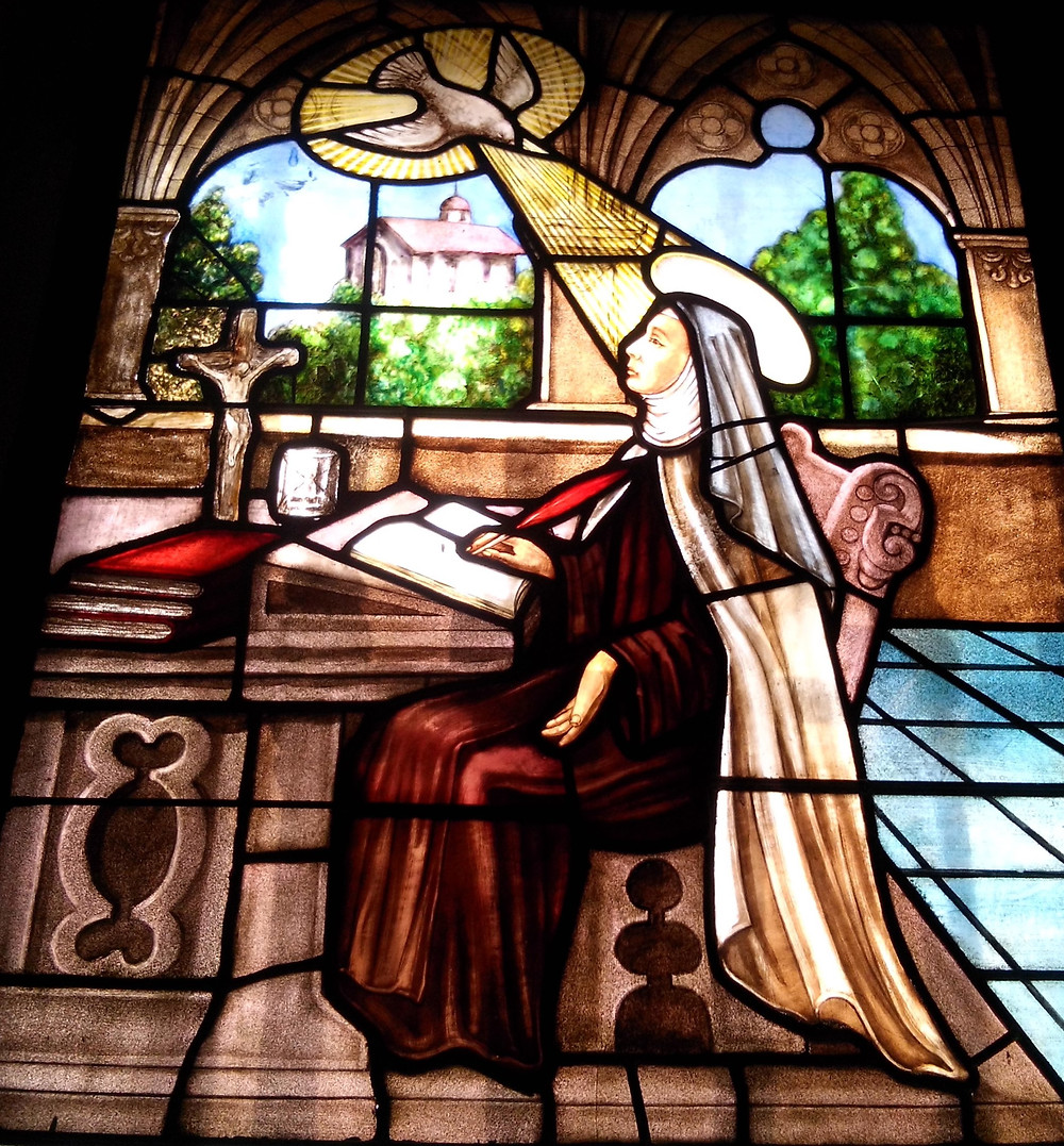 Vidriera de Teresa de Jesús. Ávila.