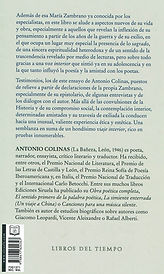Contraportada. Sobre María Zambrano. Ant
