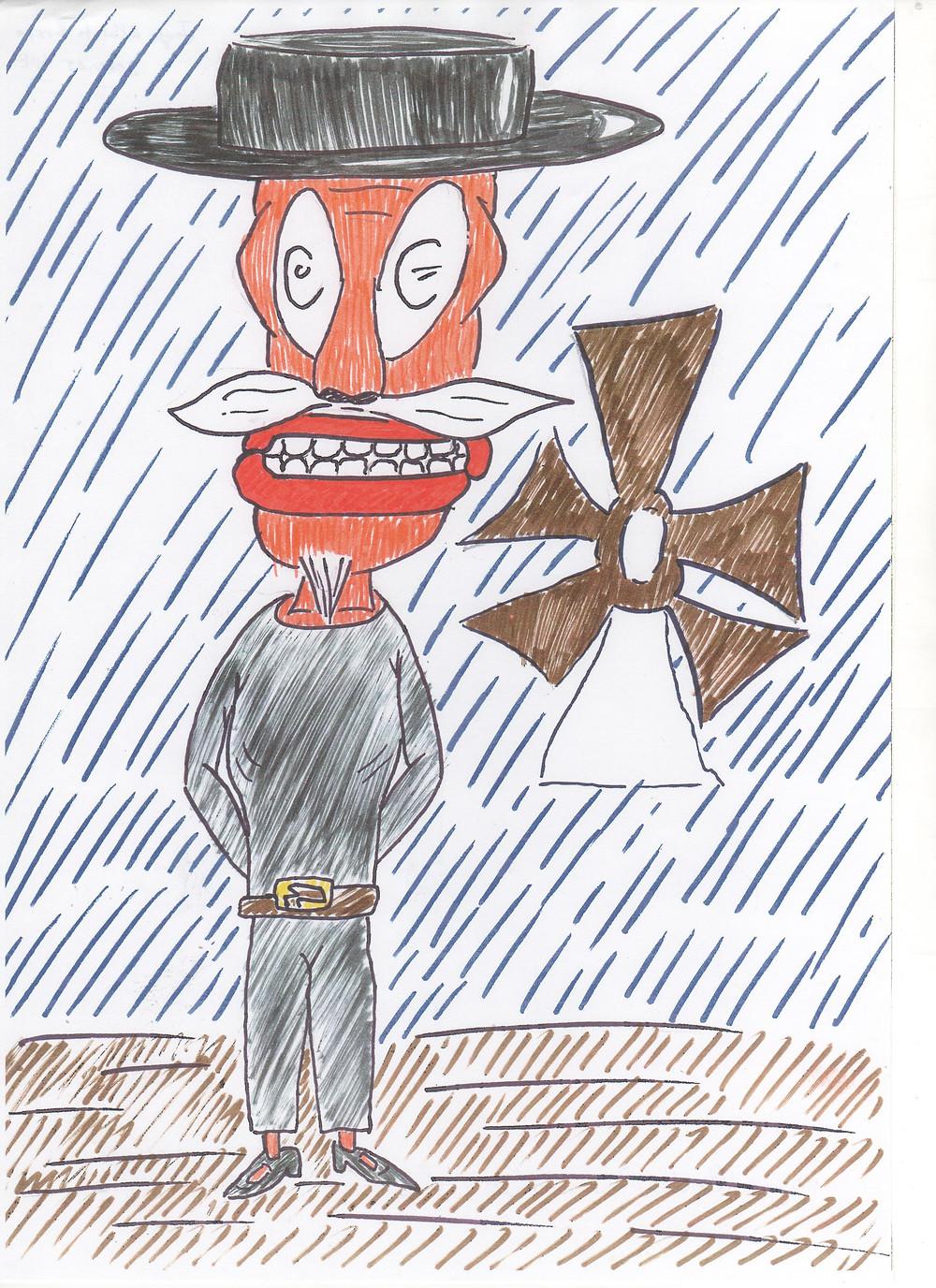 Dibujo original del alumno Jorge Alberto Bravo.