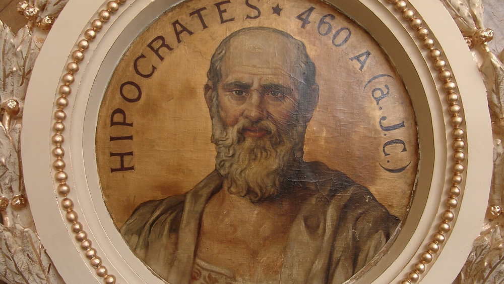 Supuesto retrato de Hipócrates. Real Academia de Medicina.