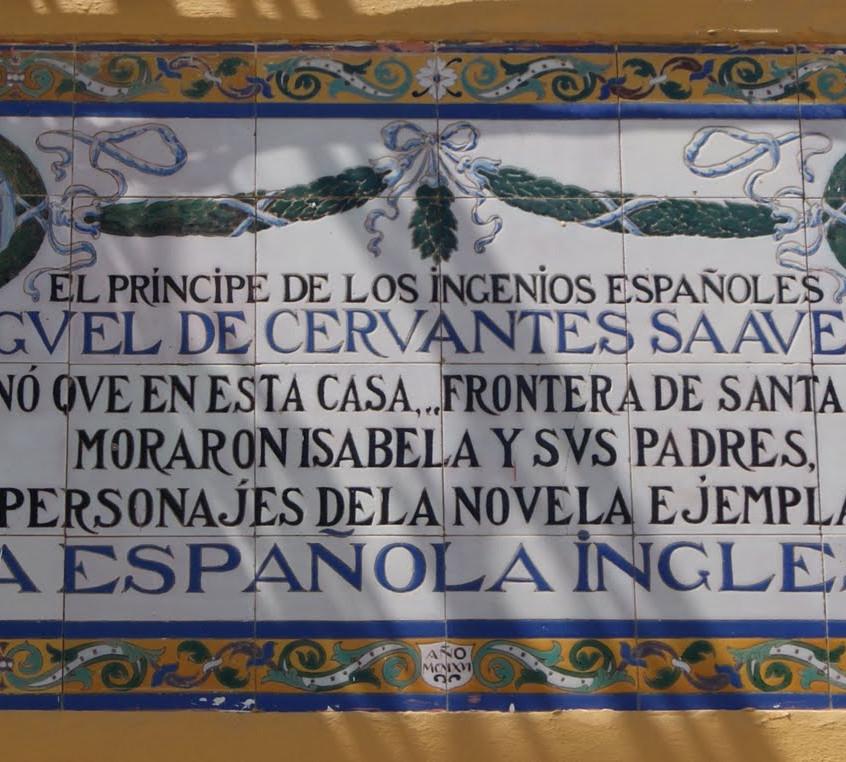 Placa a La española inglesa. Sevilla