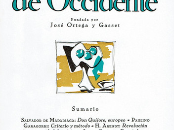 <Don Quijote, europeo>. Salvador de Madariaga. Revista de Occidente. Nº 48. 1967.
