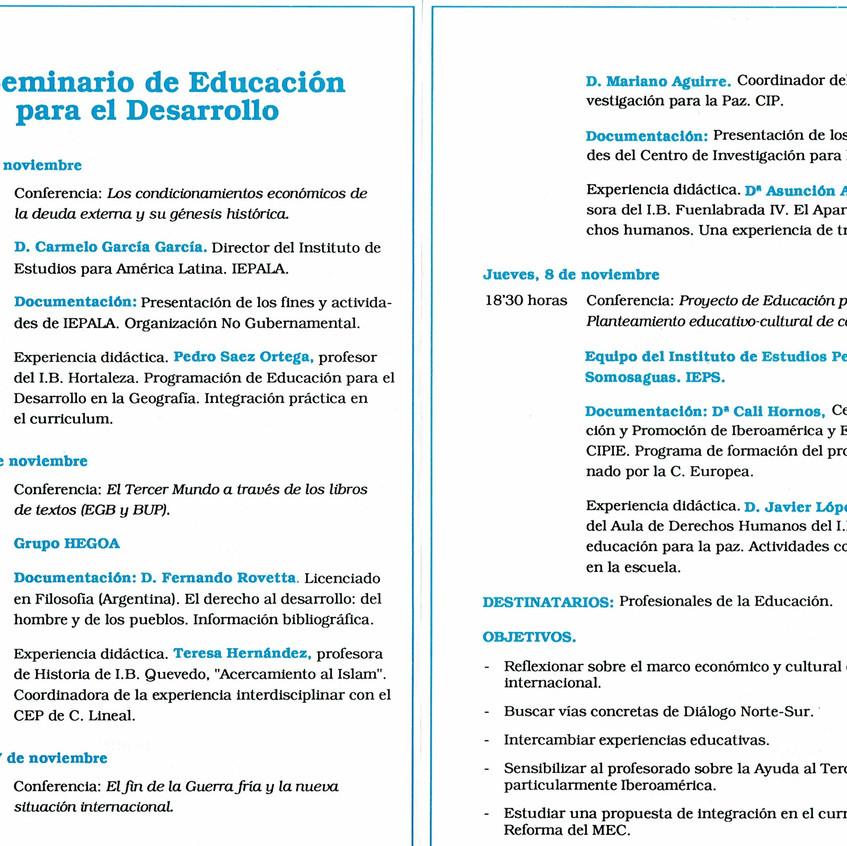 Ponencias del Seminario II.