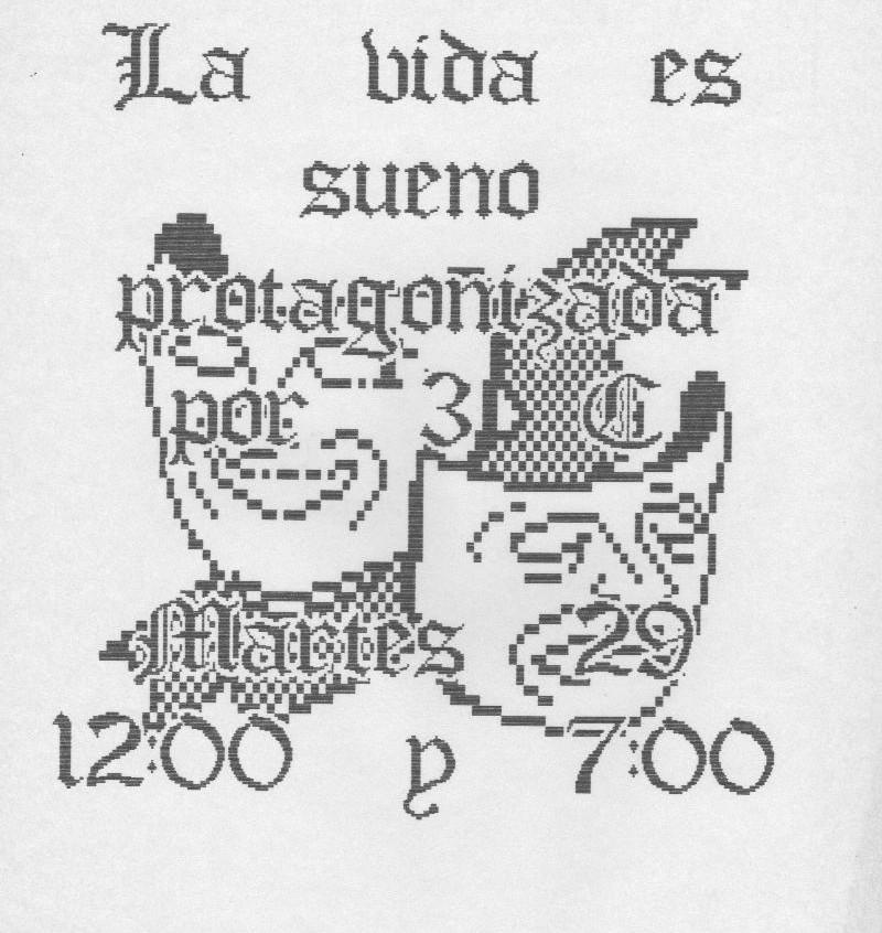 Cartel alumnos 3ºC Alcorcón VI.