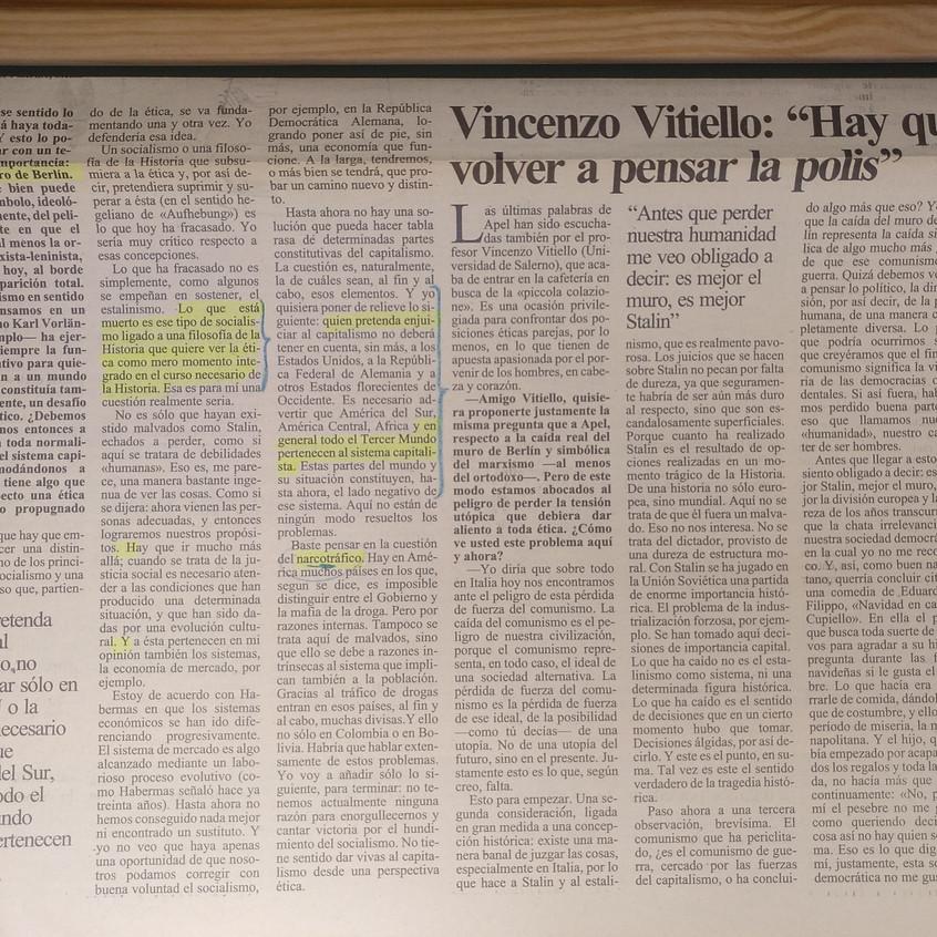K. O. Apel. El Independiente, p. 13.