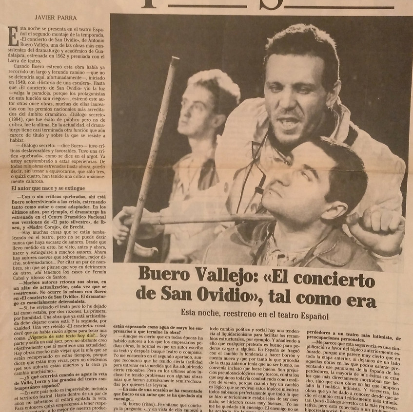 Javier Parra. Diario Ya 18/4/1986