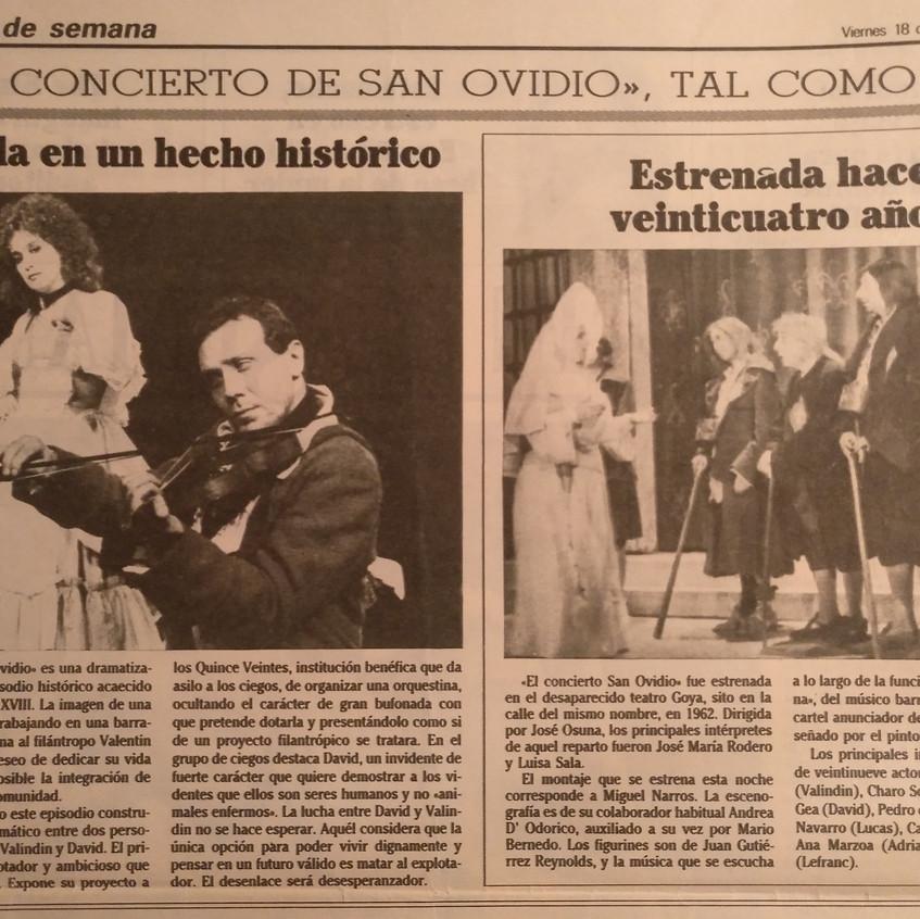 Reportaje del estreno. Diario Ya.