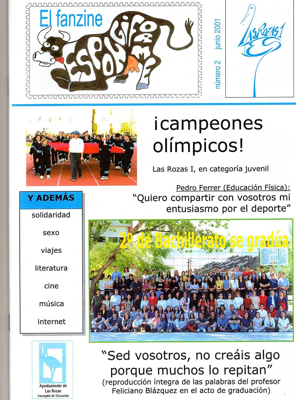 El consejo de Feliciano a los alumnos en la portada de la Revista.