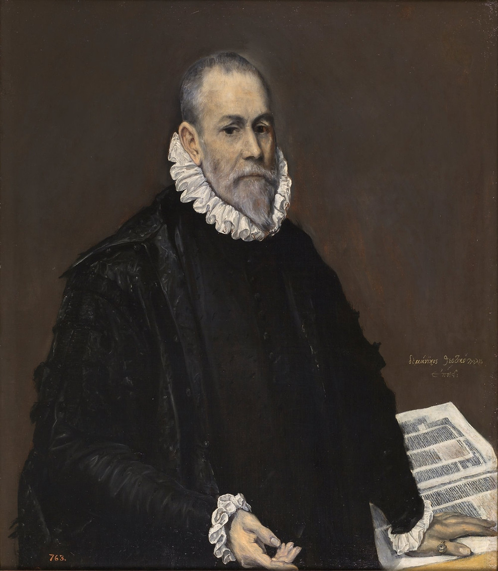 Retrato de un médico. El Greco. Museo del Prado. Se considera el doctor Rodrigo de la Fuente citado por Cervantes.
