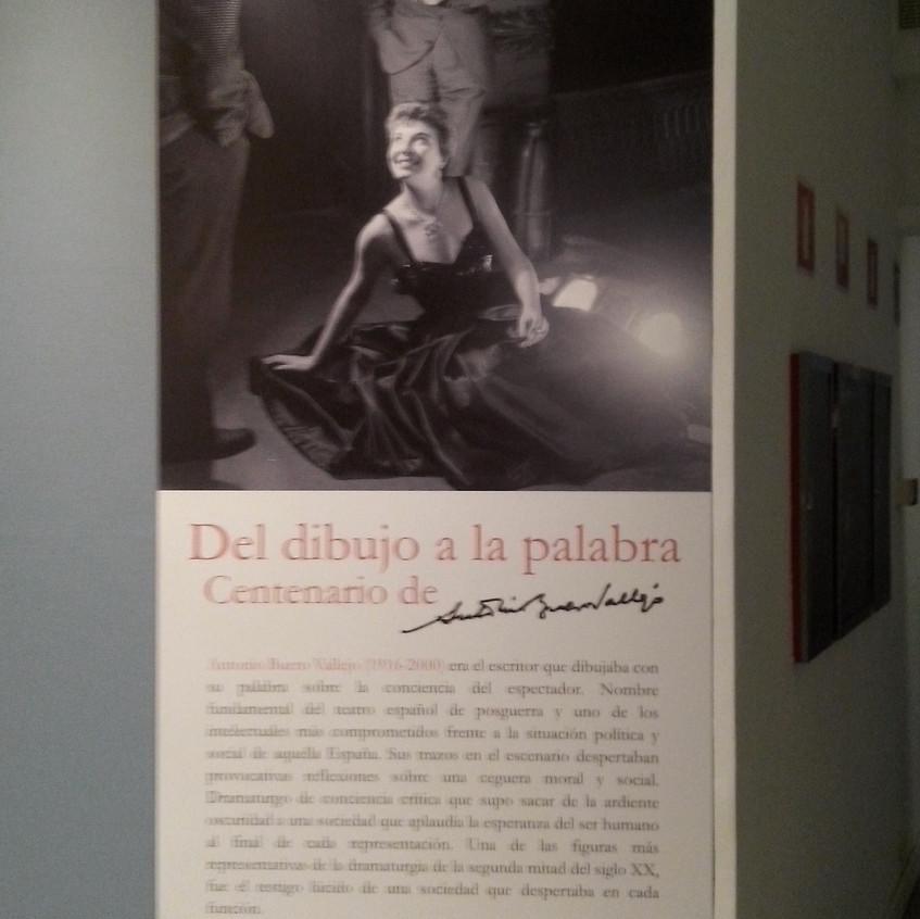 Exposición sobre Buero. BNE. 2016.