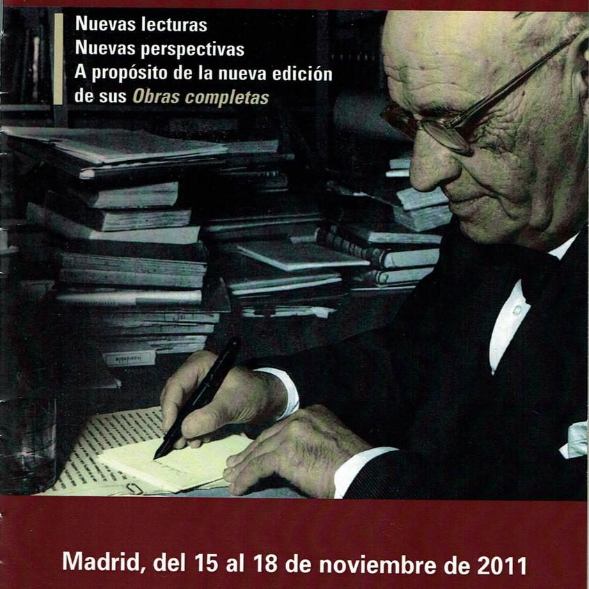 Congreso Obras Completas Ortega 2011