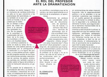 El teatro en el Área de Sociales de la Segunda Etapa de EGB. José Mª Callejas Berdonés. Colegio Sist