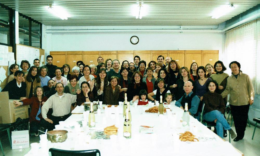 Foto de miembros de la Comunidad Educativa del IES Las Rozas 1.