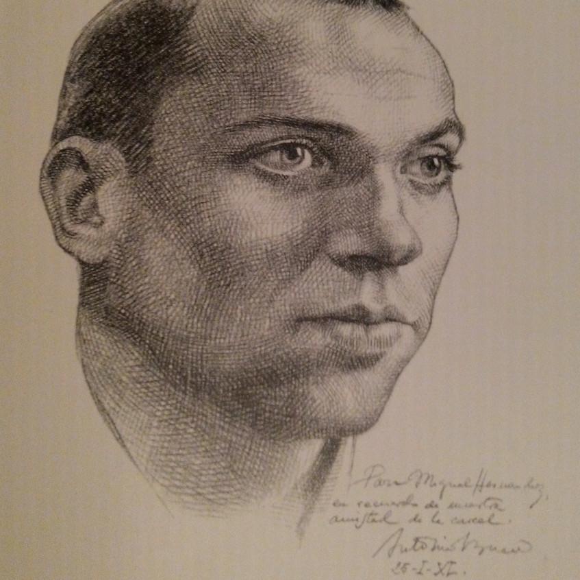 Dibujo de Miguel Hernández de Buero